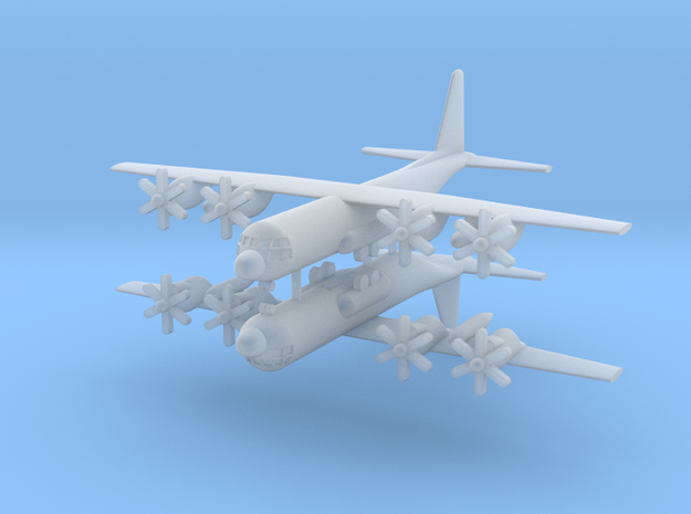 1/700 C-130J Super Hercules (x2) in Smooth Fine Detail Plastic