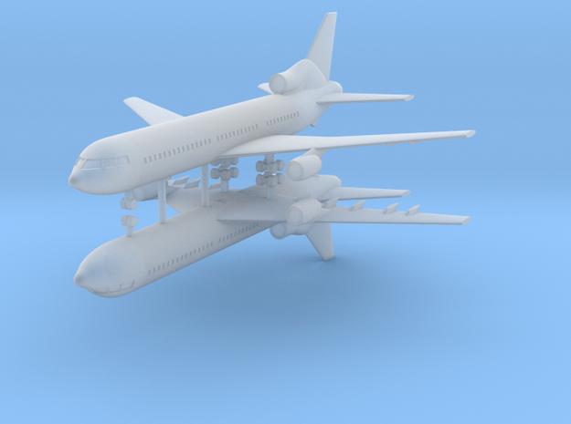 1/700 Lockheed L-1011-500 TriStar (x2) in Smooth Fine Detail Plastic