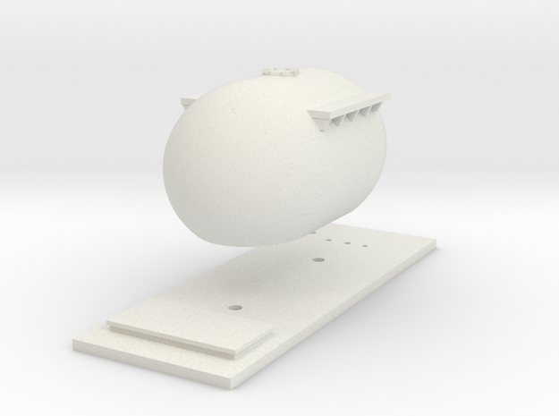 "CIE Bulk ""Bubble"" Cement Tank N Scale in White Natural Versatile Plastic"
