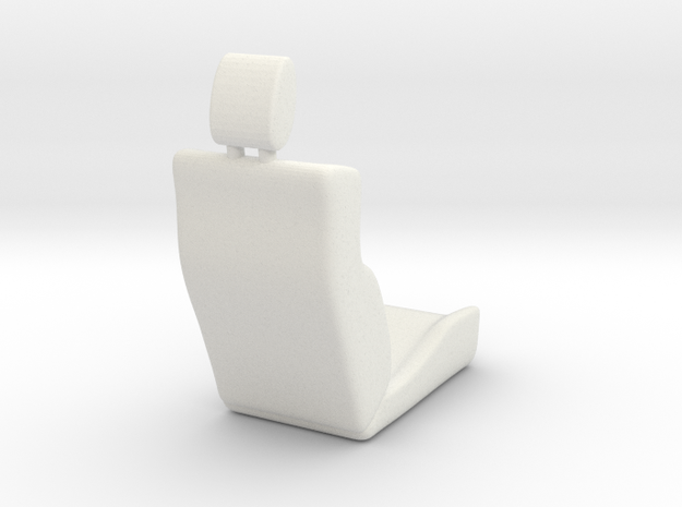 Carseat in White Natural Versatile Plastic