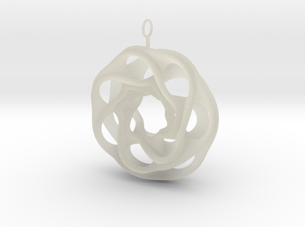convoluted ring earring 2 3d printed
