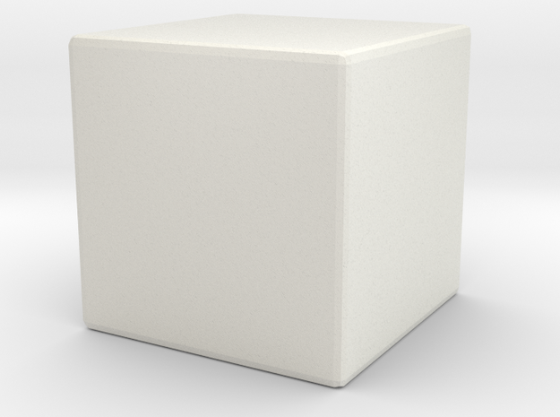 Blank die solid in White Natural Versatile Plastic