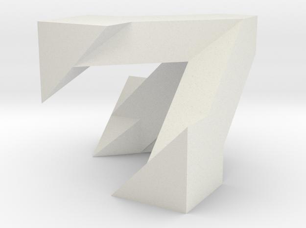 Hamilton's Box in White Natural Versatile Plastic