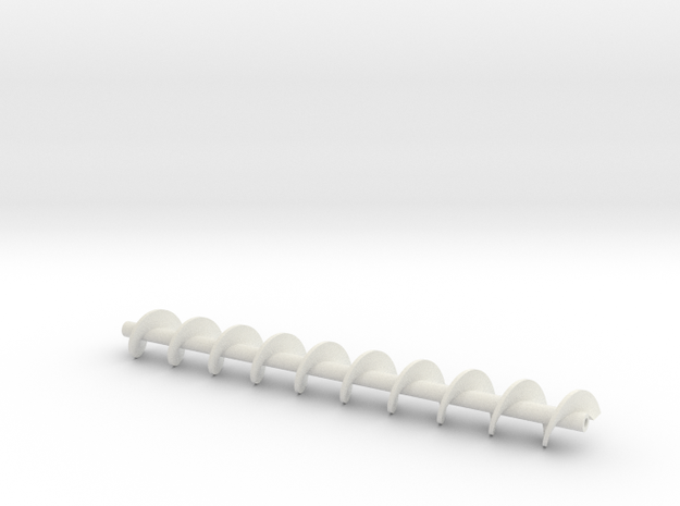 Auger 120 mm in White Natural Versatile Plastic