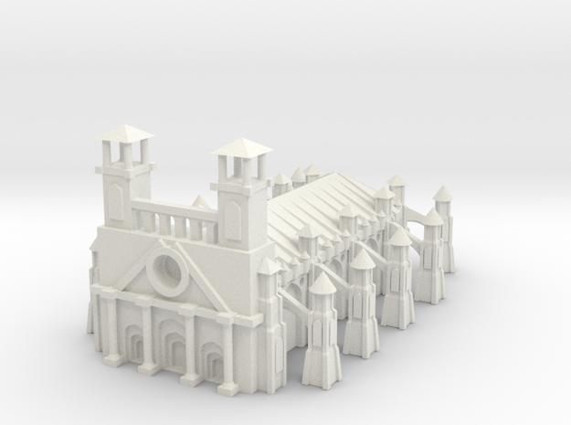 Gothic Style Cathedral in White Natural Versatile Plastic