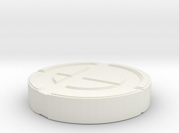 Super Smash Brothers Logo in White Natural Versatile Plastic