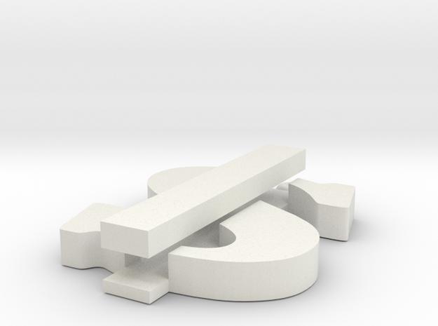 Dolla in White Natural Versatile Plastic