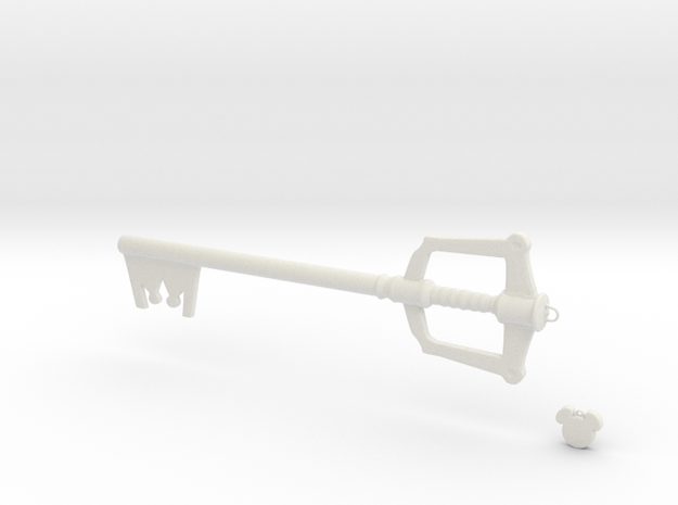 Keyblade in White Natural Versatile Plastic