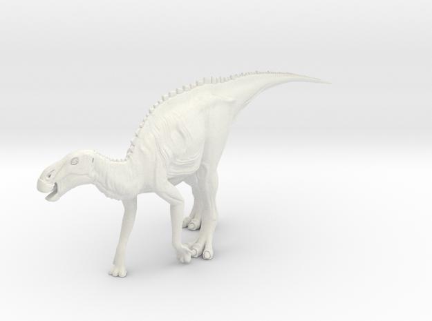 Dinosaur Brachylophosaurus Small HOLLOW in White Natural Versatile Plastic