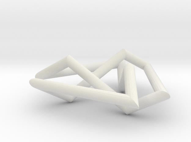 Trefoil small in White Natural Versatile Plastic