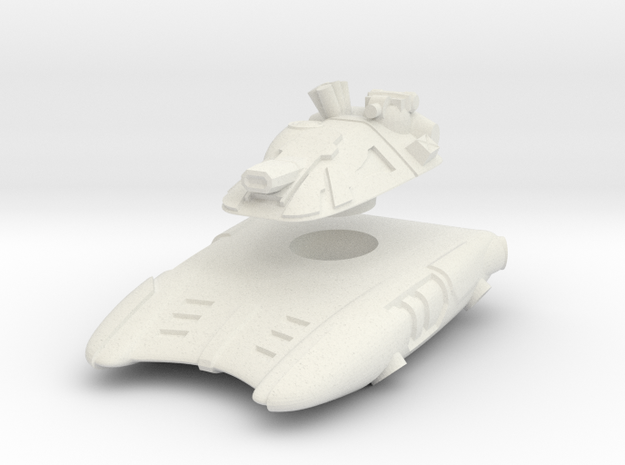 T-667 Hover Tank in White Natural Versatile Plastic