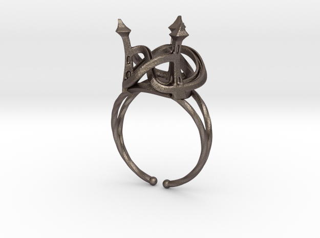 Three Towers Ring 3d printed