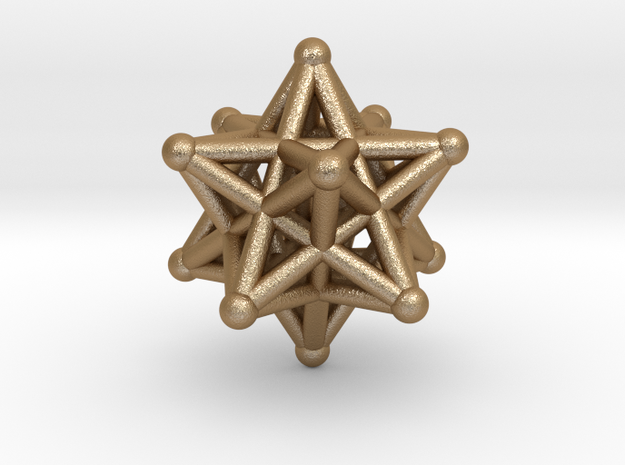 ball-and-stick star 3d printed