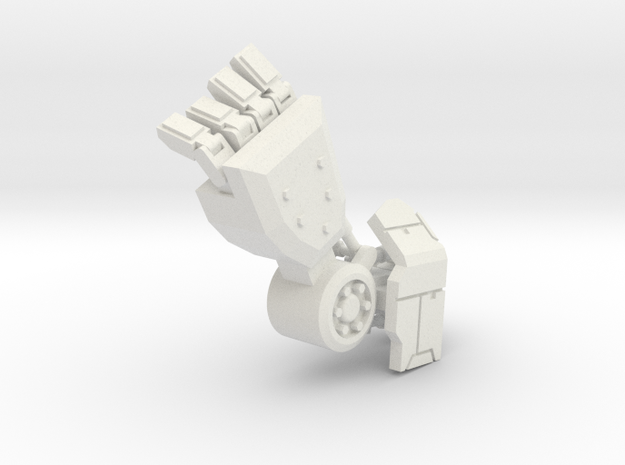 Robot Arm in White Natural Versatile Plastic