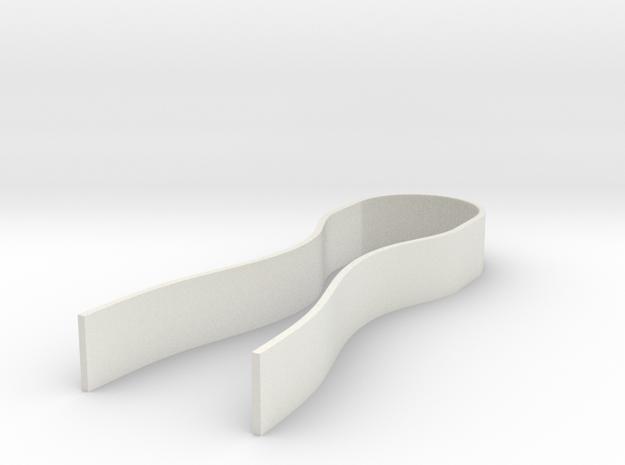 Pop-a-Cap in White Natural Versatile Plastic