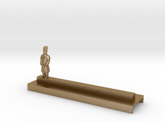 Porte Couteau Soldat 2 Xian in Polished Gold Steel