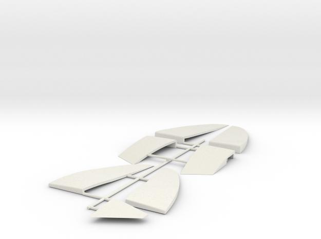 Tre 1 of 6 (auto Gyro) in White Natural Versatile Plastic