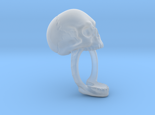 Skull Ring (size 12) 21,3mm 3d printed Front