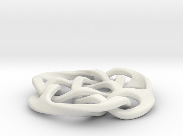 celtic knot 30mm in White Natural Versatile Plastic