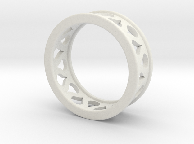 Droplet Ring in White Natural Versatile Plastic