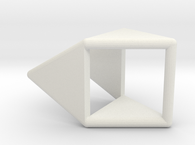 d4 double prism blank in White Natural Versatile Plastic