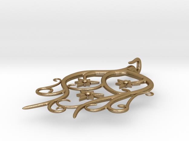 Tendril Pendant 3d printed