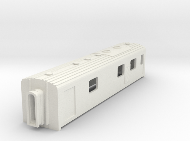 N Scale Werkspoor Dundalk Gen Van in White Natural Versatile Plastic