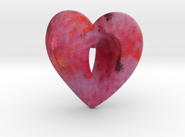 Fractal Heart Bauble 5 3d printed