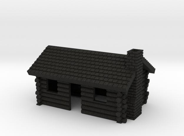 Log Cabin 1 - Zscale in Black Acrylic