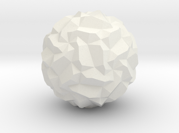 Stellated Pentagonal Hexecontahedron, hollowed in White Strong & Flexible