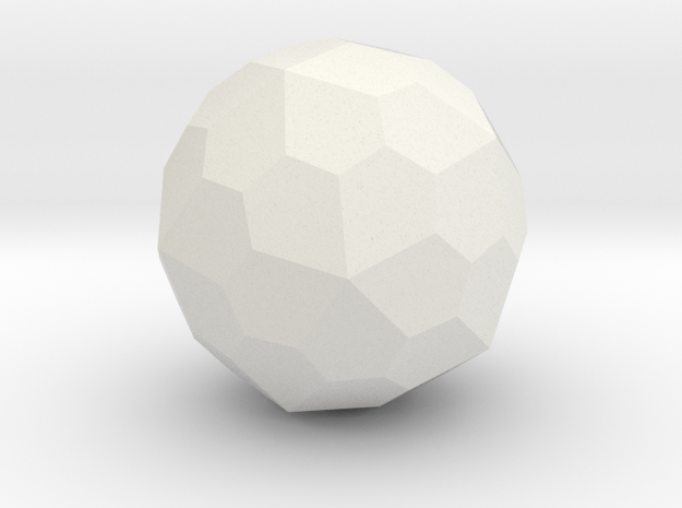 Pentagonal Hexecontahedron in White Strong & Flexible