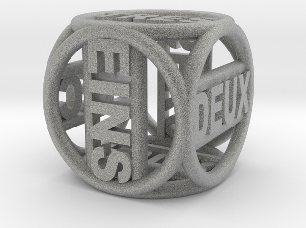>> Text dice 2 1cm3 3d printed