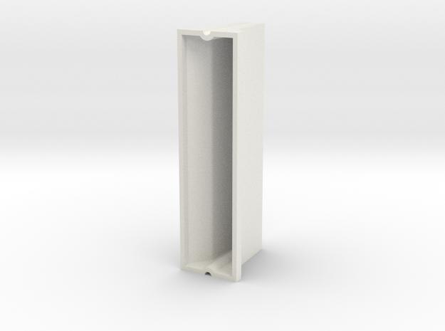 1/24 concrete construction road barrier in White Natural Versatile Plastic