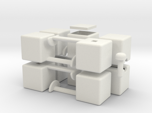 mini 1x2x5 in White Natural Versatile Plastic