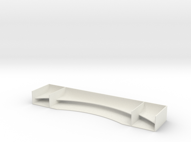 TC Race Wing V1 1.00mm in White Strong & Flexible