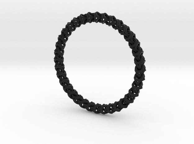 Bracelet - Crossover 3d printed Black bracelet