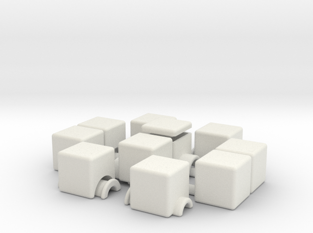 1x2x5 v2 (hollow) in White Natural Versatile Plastic