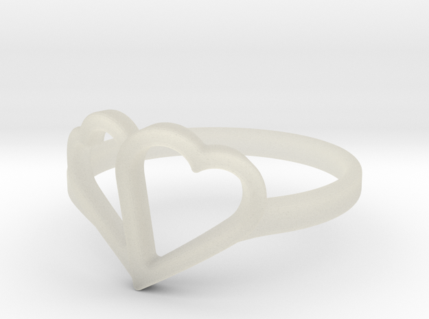 Overlapping Heart Ring in Transparent Acrylic