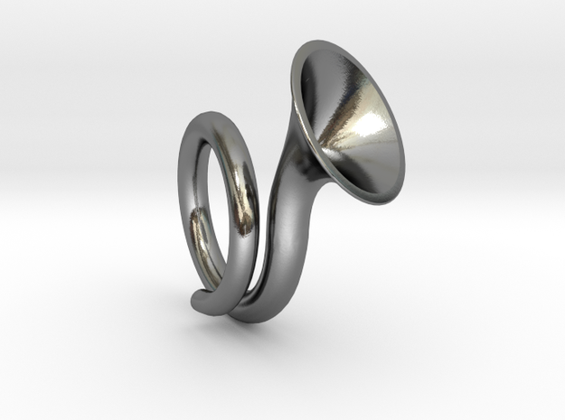 Monotone ring in Polished Silver