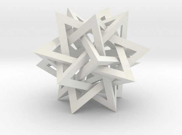Intersecting Tetrahedra - Small 3d printed