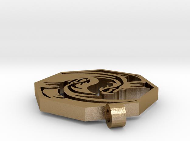 Dragon Pendant (Octagon)2 3d printed