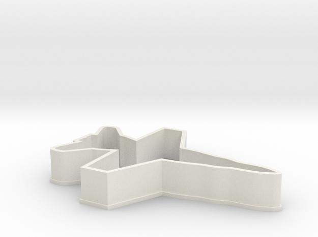 F18 Cookie Cutter in White Natural Versatile Plastic