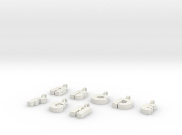 7-8 Char Glass Charm 3d printed