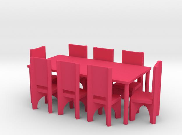 Tafel met 8 stoelen 3d printed