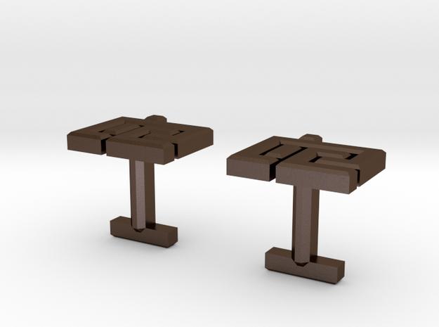 MICufflink 3d printed