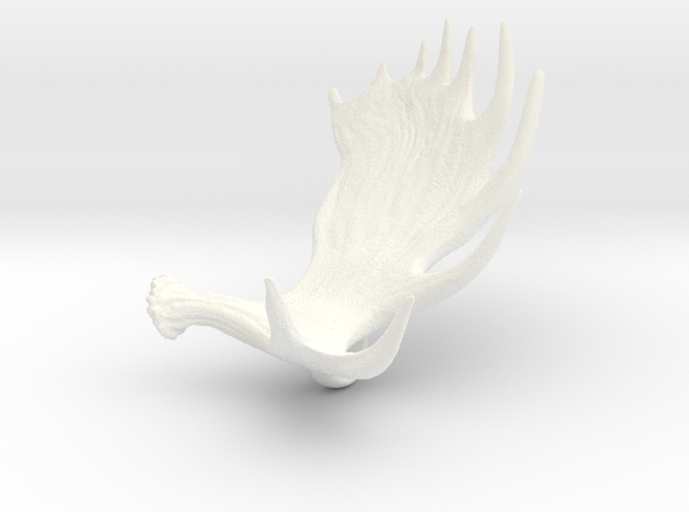 Moose Antler Pendant 3d printed