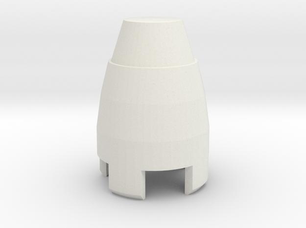 sonic cap in White Natural Versatile Plastic