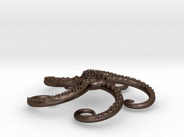 Starfish pendant 3d printed The starfish pendant in matt goldplated stainless steel