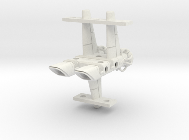 Mulcien Horarum Class Battlecruiser in White Natural Versatile Plastic