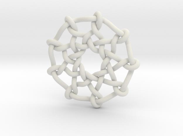 Celtic Knots 03 in White Natural Versatile Plastic